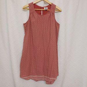 Old Navy Cotton Sleeveless Dress Keyhole Back
